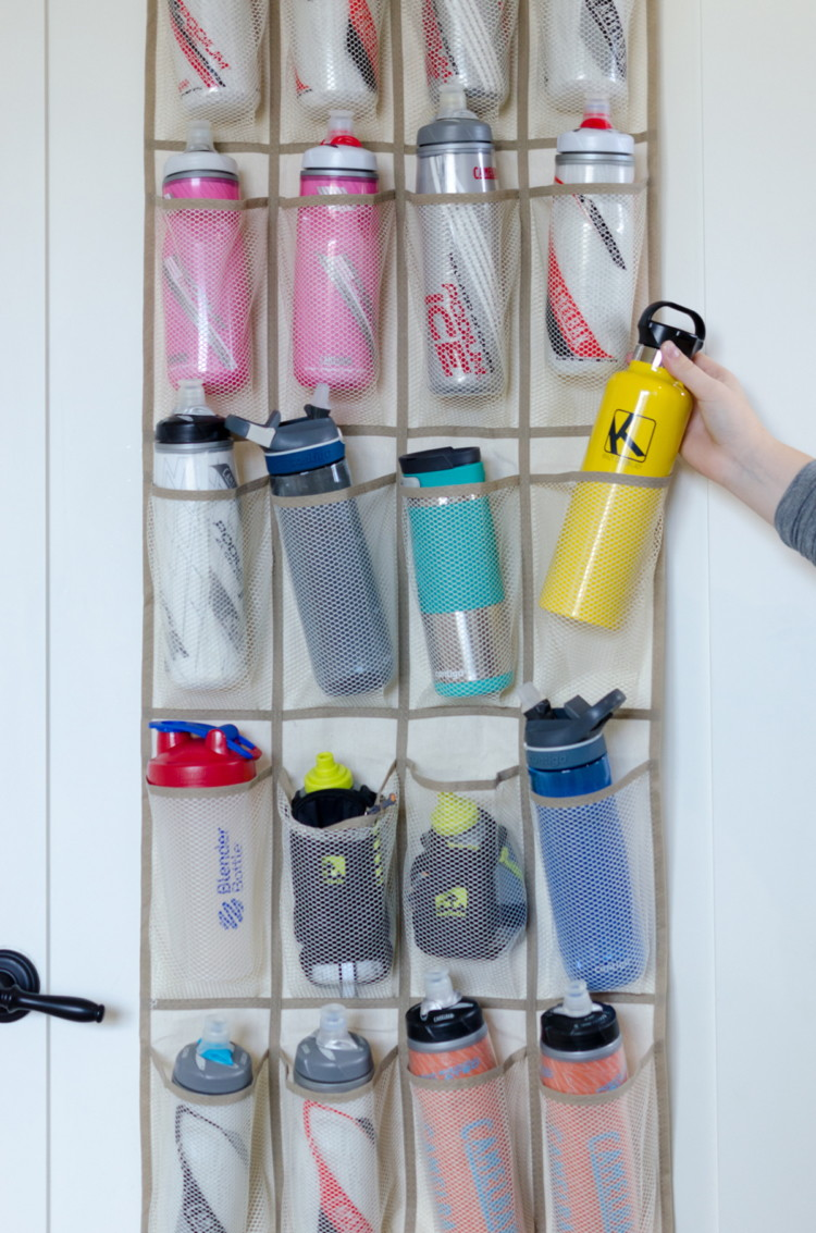 Use it in your pantry to store water bottles.