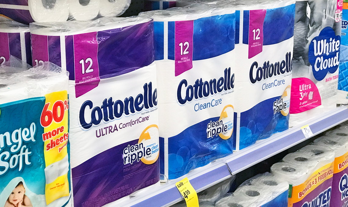 Cottonelle Bath Tissue Only 0 02 Per Square Foot At