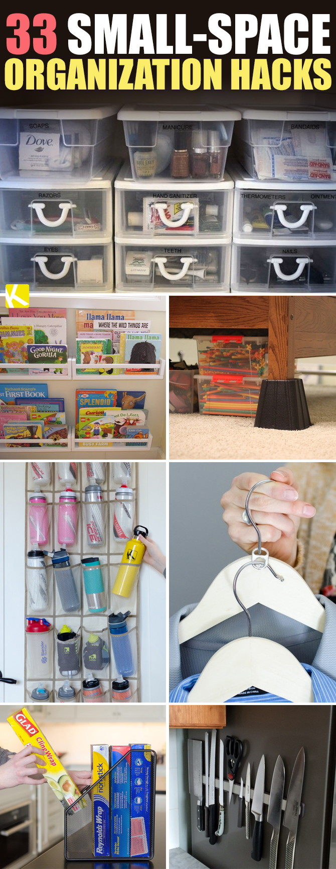 33 Sneaky Small Space Organization Hacks The Krazy Coupon Lady