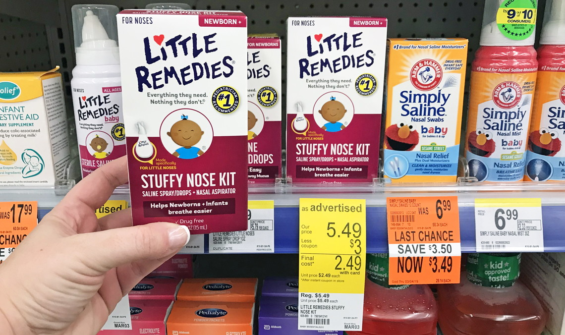 Little Remedies Stuffy Nose Kit, Only $0.49 at Walgreens!
