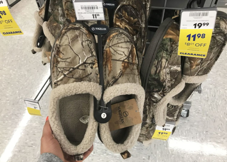 67280f4f7d7da Buy 1 Magellan Outdoors Men's Camo Moccasins ( reg. $24.99 ) $11.98,  clearance price. Free shipping on orders of $25.00 or more. Final Price:  $11.98