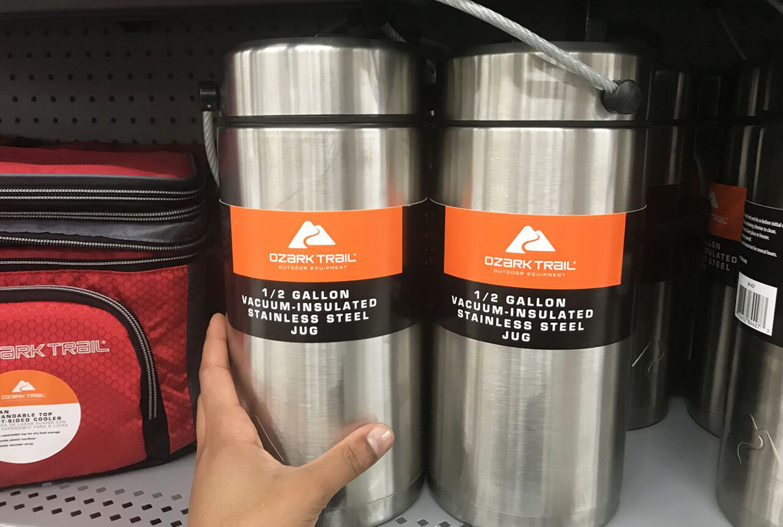 fb1543f01f Ozark Trail 36-Ounce Stainless Steel Water Bottle 2-Pack, Only $8.88 at  Walmart!