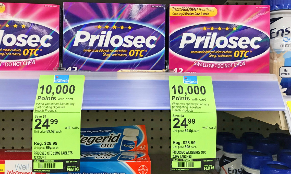 photo relating to Prilosec Printable Coupon titled Culturelle Prilosec OTC, as Minimal as $6.99 at Walgreens