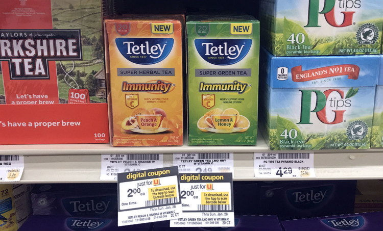 Tetley Tea, as Low as $0.50 at Safeway Stores in the Portland Area!