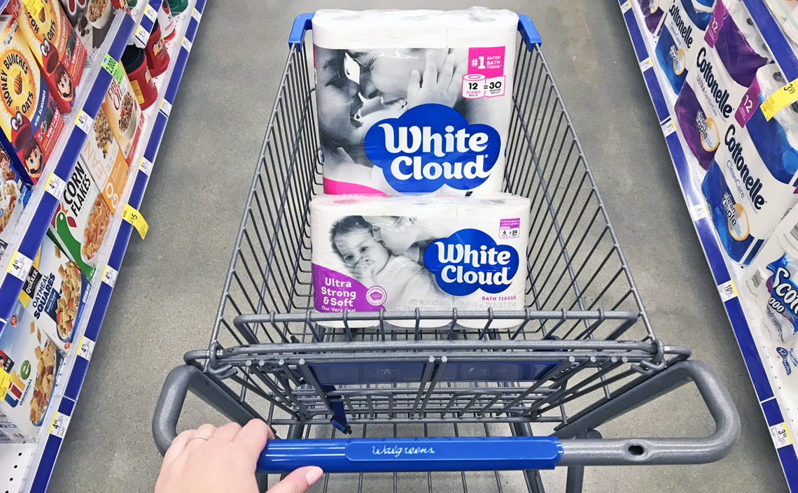 White Cloud Bath Tissue Only 0 21 Per Roll At Walgreens