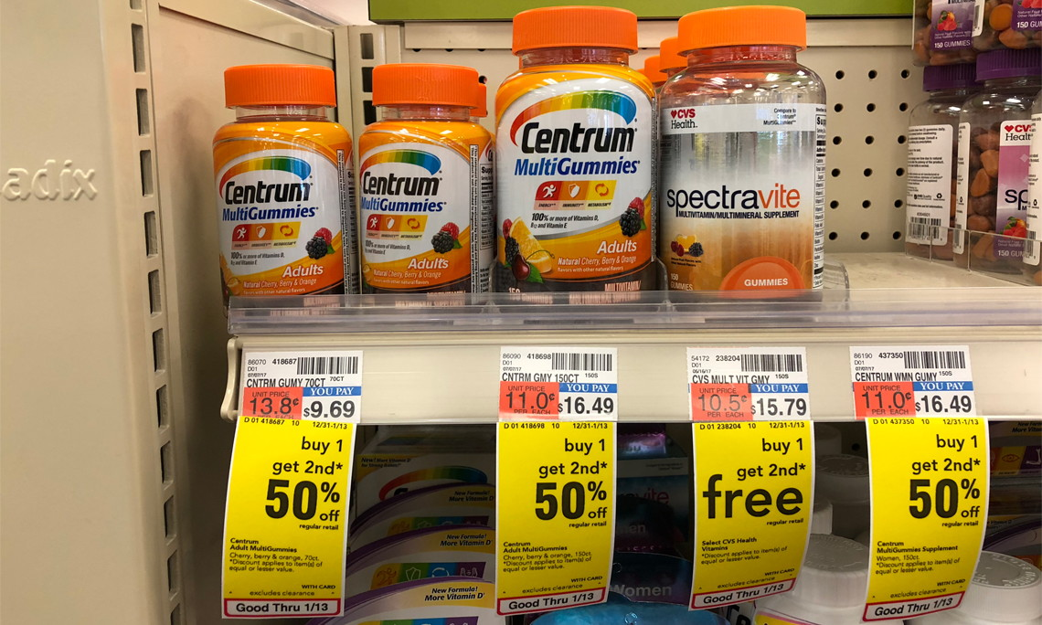 back again  centrum multigummies  only  1 27 at cvs