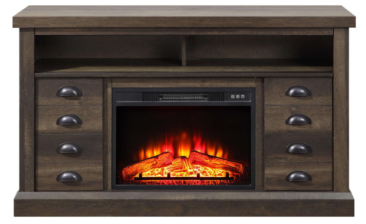 Better homes and gardens farmhouse fireplace tv stand only 200 shipped at walmart reg 300 for Better homes and gardens fireplace tv stand