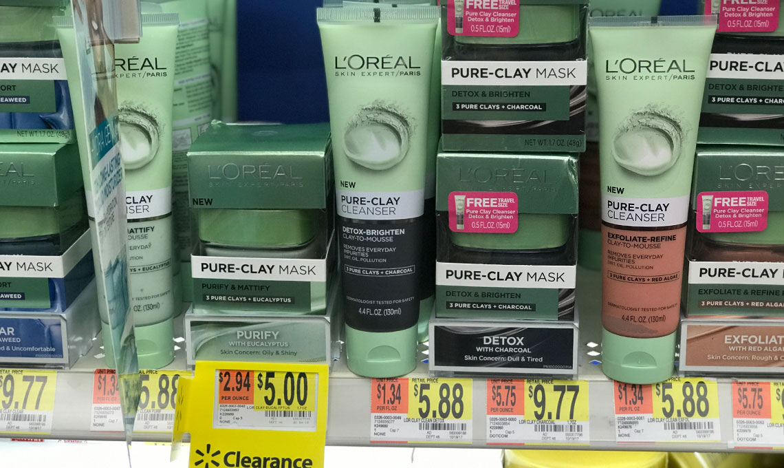 L'Oreal Pure-Clay Mask, Only $1.00 at Walmart – Reg. $9.77!