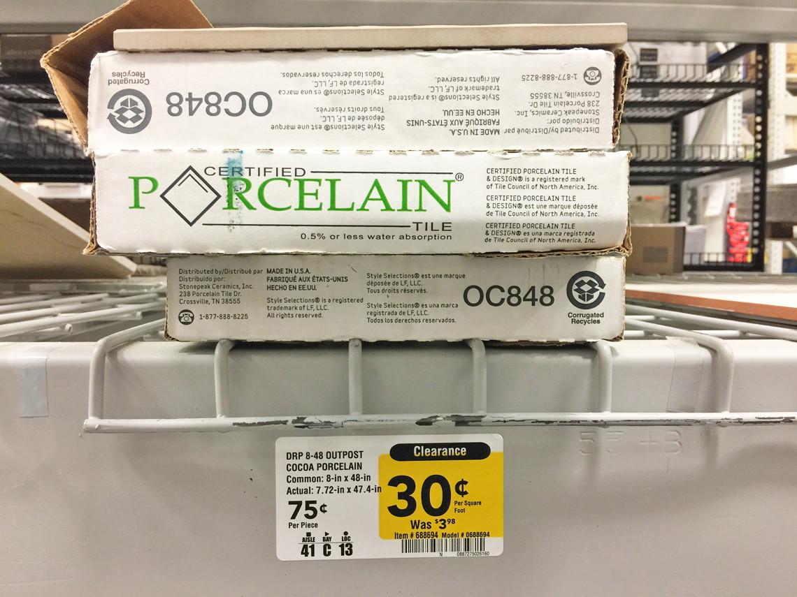 Wood Look Porcelain Floor & Wall Tile, as Low as $0.30/sq. ft. at ...