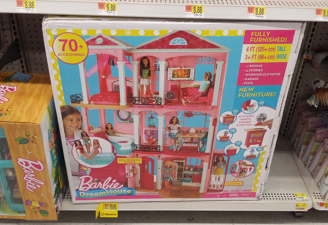 Barbie Dreamhouse Playset w/ 70+ Accessory Pieces, as Low as