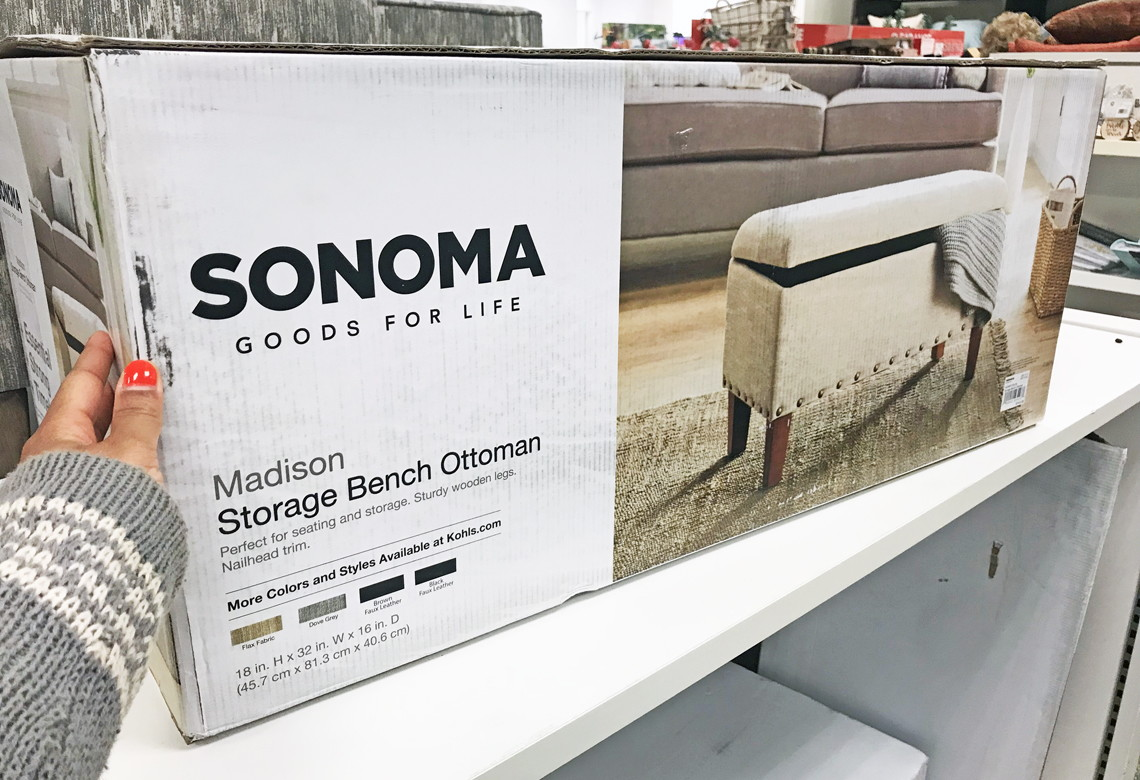 Superb Kohls Com Sonoma Madison Storage Bench Ottoman Only 80 Ncnpc Chair Design For Home Ncnpcorg