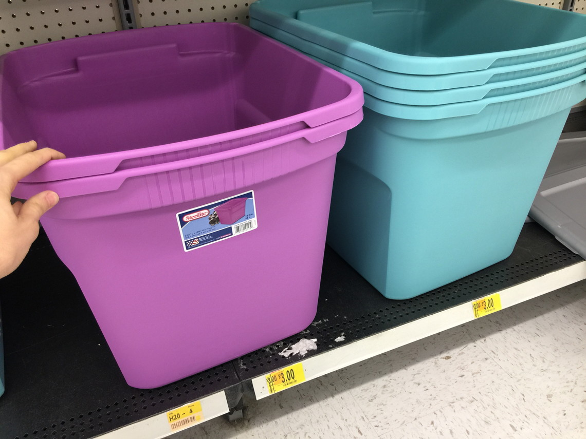 Sterilite 18 Gallon Storage Totes, As Low As $1 At Walmart   Check Your  Store!   The Krazy Coupon Lady