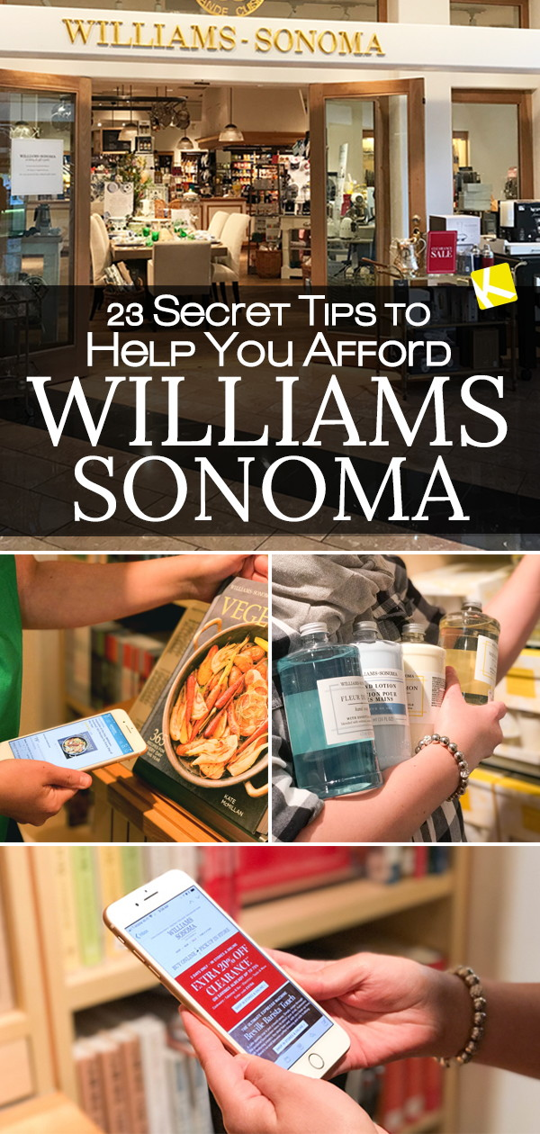 image about Williams Sonoma Coupons Printable titled 23 Mystery Suggestions towards Assistance Your self Afford to pay for Williams-Sonoma - The