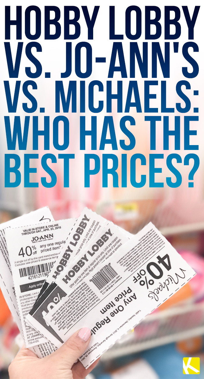 Hobby Lobby vs  Jo-Ann's vs  Michaels: Who Has the Best
