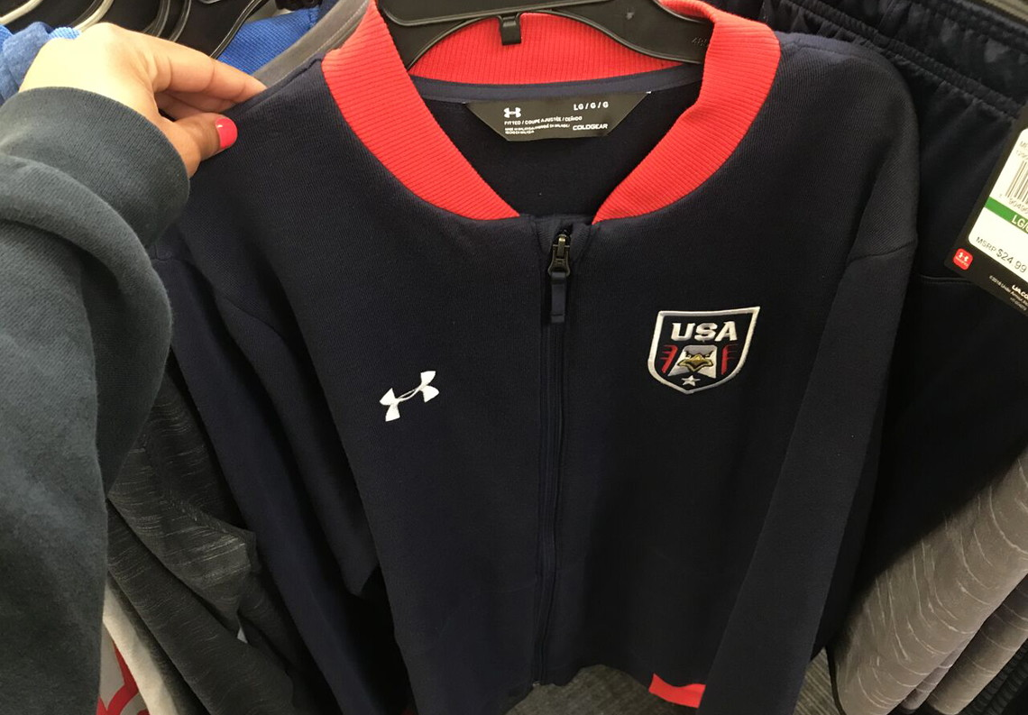 2a82b812f Under Armour Men's USA Bomber Jacket, Only $27 at Academy Sports! - The  Krazy Coupon Lady