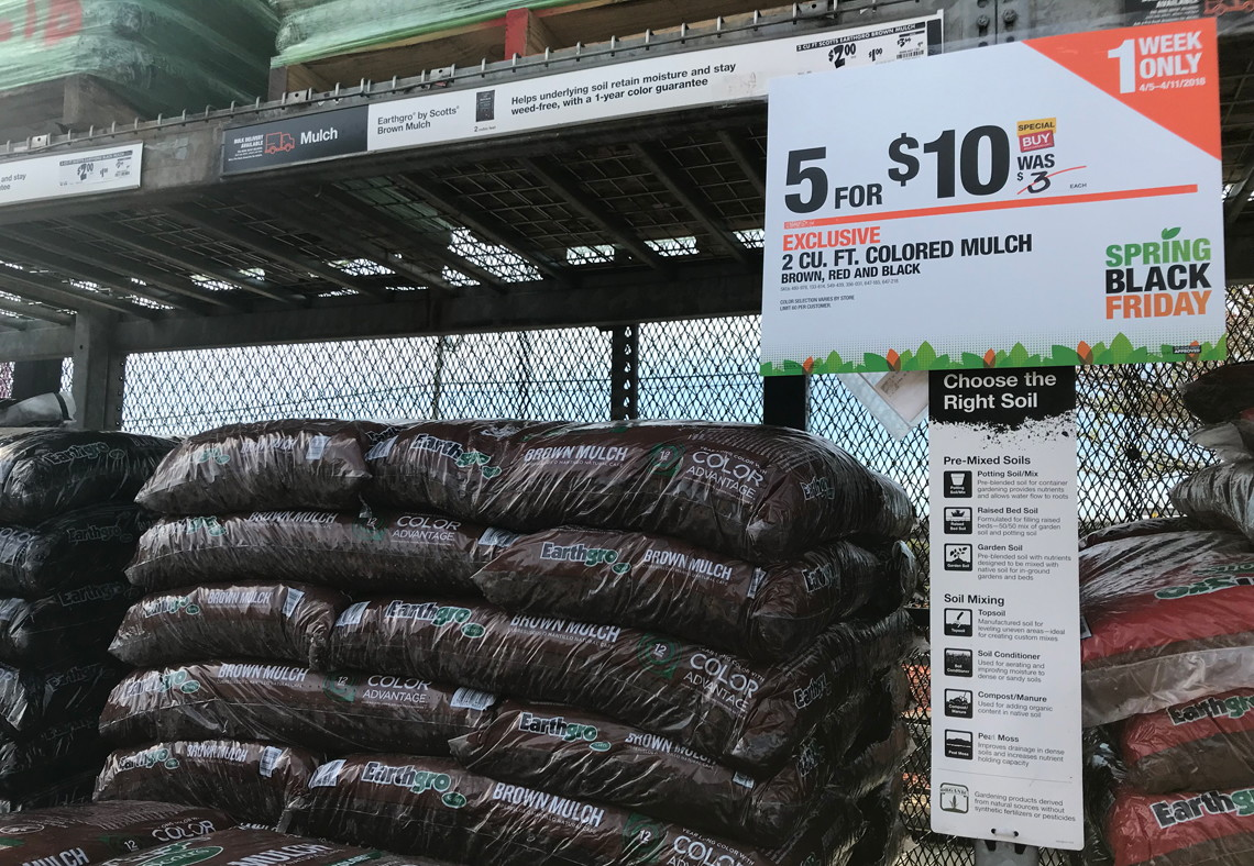 Last Chance Colored Mulch Bags 2 At Home Depot Lowe S