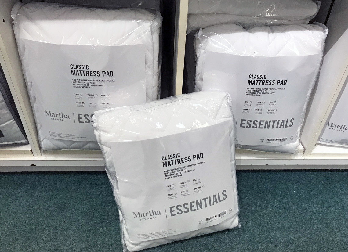 Great Reviews! Martha Stewart Mattress Pad, $15 at Macy's
