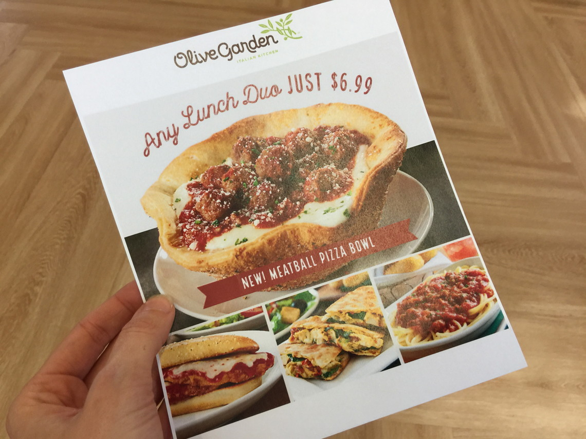 Olive Garden Lunch Duos, Just $6.99 - This Week Only! - The Krazy ...