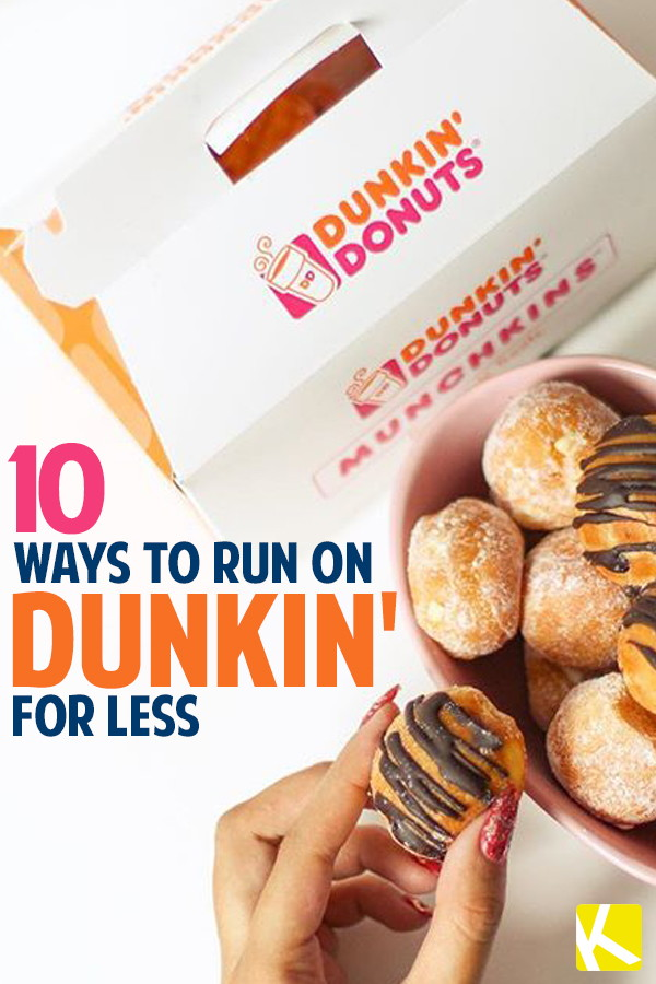picture regarding Dunkin Donuts Coupons Printable identify 10 Methods toward Work upon Dunkin for A lot less - The Krazy Coupon Girl