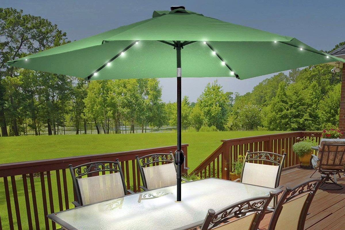 Sorbus 10 Foot Outdoor Patio Umbrella With Led Lights Only 59 99 Shipped The Krazy Coupon Lady