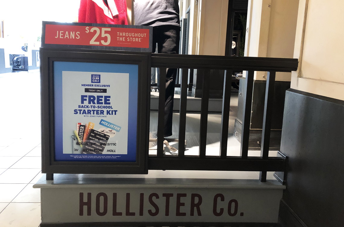 Hollister back to school
