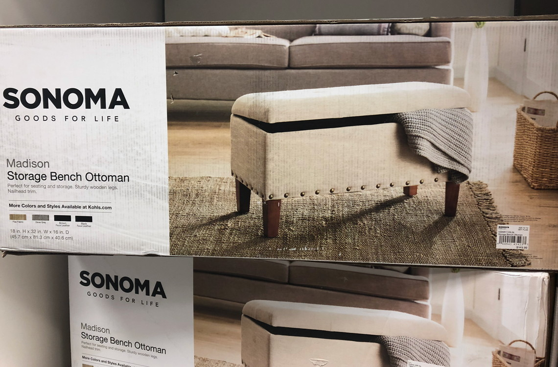 Pleasing Kohls Com Sonoma Madison Storage Bench Only 79 99 Shipped Ncnpc Chair Design For Home Ncnpcorg
