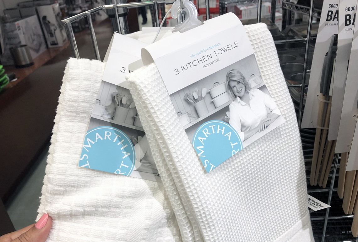 Martha Stewart 3 Piece Kitchen Towels As Low As 5 At