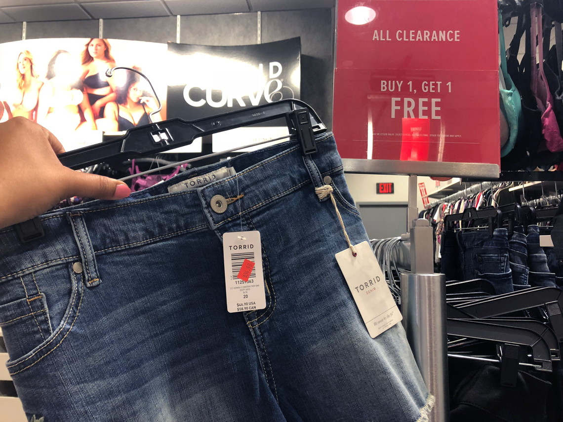 picture about Torrid Printable Coupons identified as BOGO Free of charge Clearance at Torrid: $9 Leggings, $12 Outfits