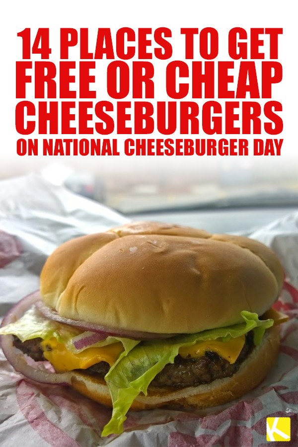 14 places to get free or cheap cheeseburgers on national 1 fandeluxe Gallery