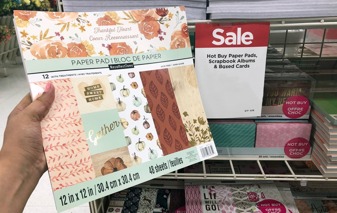 Scrapbook Paper Cards Only 500 At Michaels 100 Ribbon