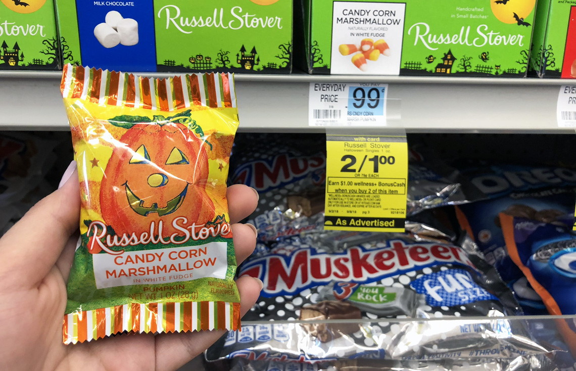 free russell stover halloween candy at rite aid - no coupons needed