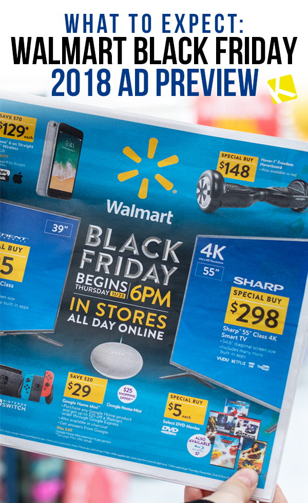 what to expect walmart black friday 2018 ad preview the krazy coupon lady. Black Bedroom Furniture Sets. Home Design Ideas