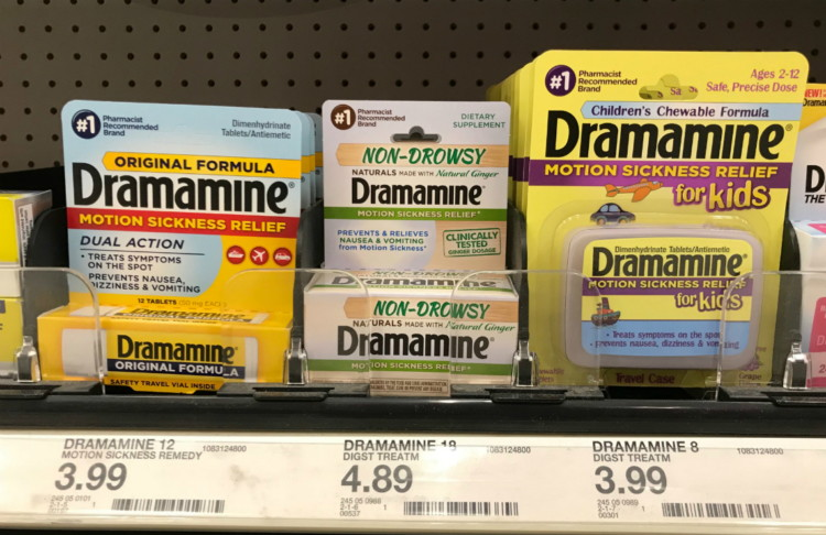 Dramamine Motion Sickness Relief, Only $1 39 at Target! - A