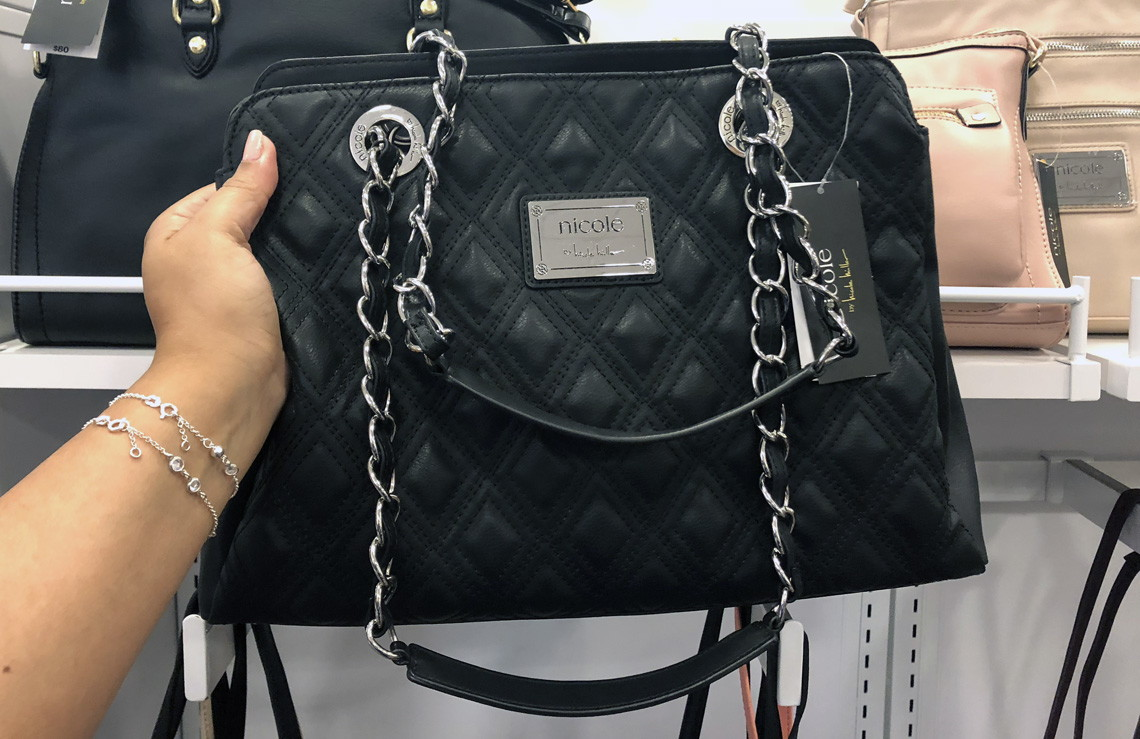 a2f2258ce ... shoulder bag; 1 nicole miller suzie large tote reg 80 00 32 00 price  though 10 13 at