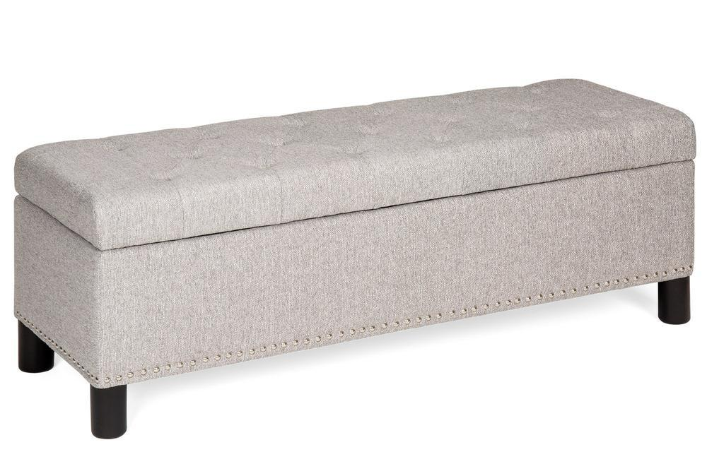 0e4492f23d Tufted Upholstered Padded Storage Bench