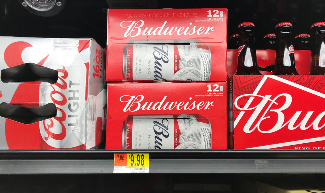 Bud Light & Michelob Ultra 12-Packs, as Low as $4 98 at Walmart! - A