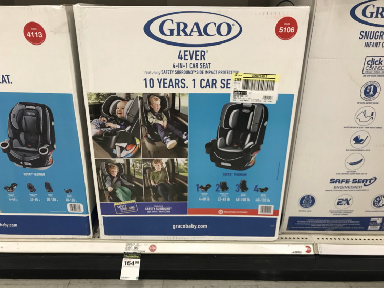 ed89ecb3e51a Buy 1 Graco 4-Ever All-In-One Convertible Car Seat ( 329.99)  164.99