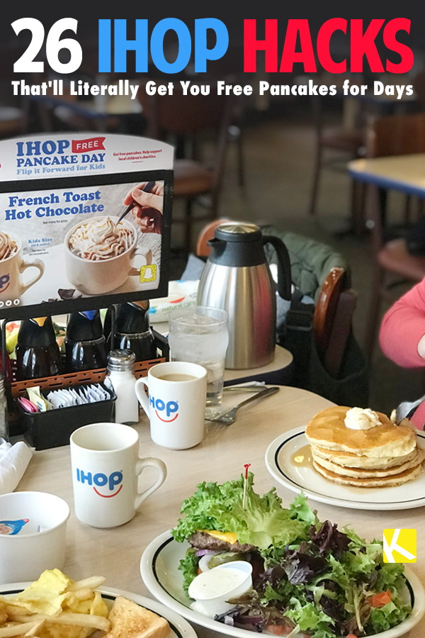photograph relating to Ihop Printable Menu known as 26 IHOP Hacks Thatll Basically Purchase Oneself No cost Pancakes for