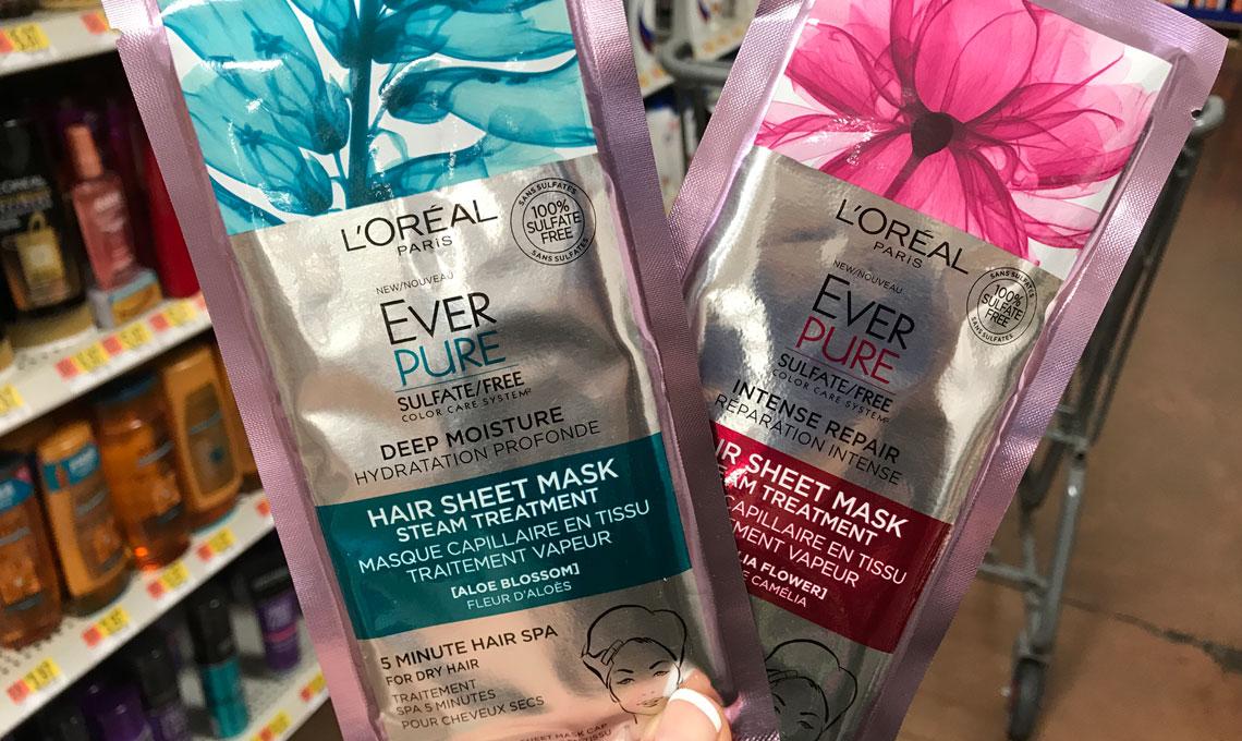 Free L'Oreal Hair Sheet Mask at Walmart! - The Krazy Coupon Lady