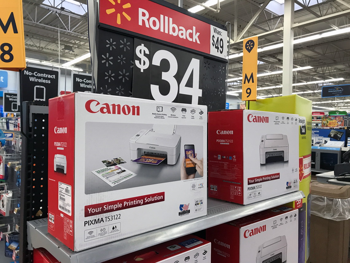 Canon PIXMA Wireless All-in-One Printer, Only $34 at Walmart