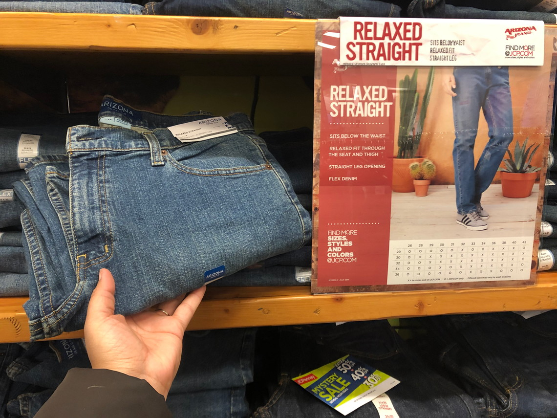 6b5fc95bb Men's Arizona Jeans, Only $15.39 at JCPenney! - The Krazy Coupon Lady