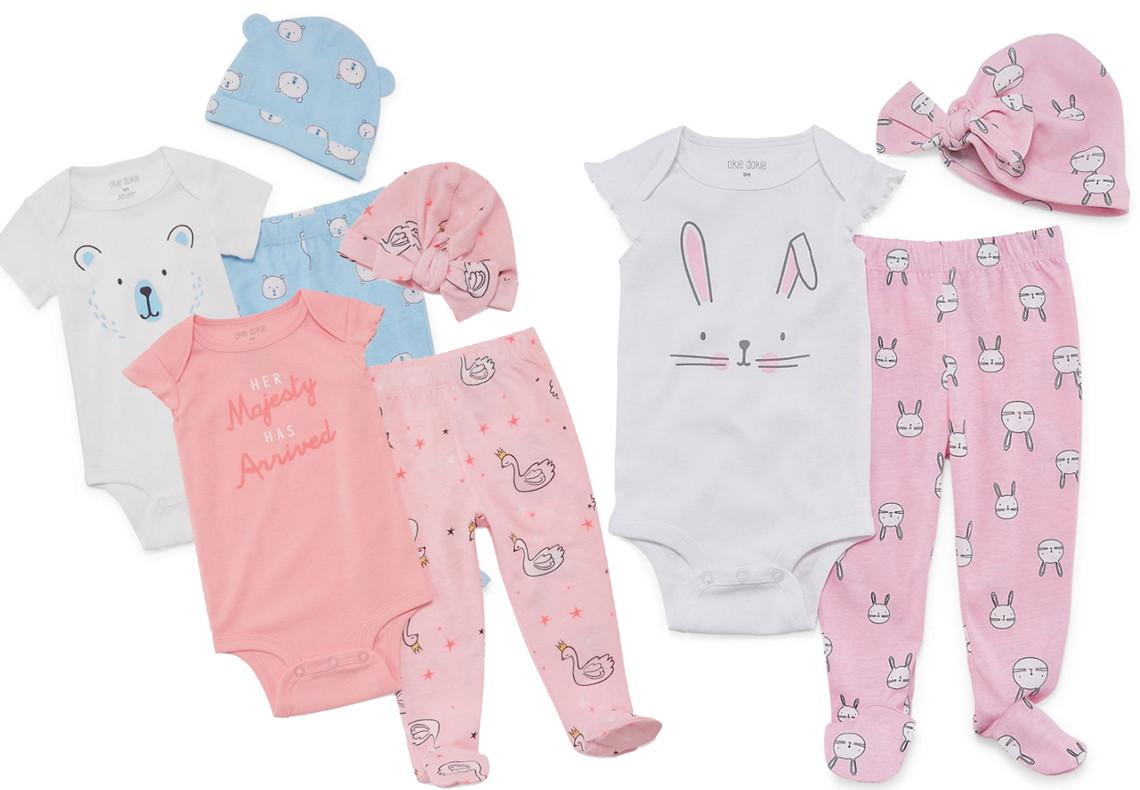 81bf8309d74f6 Buy 1 Okie Dokie Baby Girl Bodysuit Set w Hat ( reg.  24.00 )  10.80