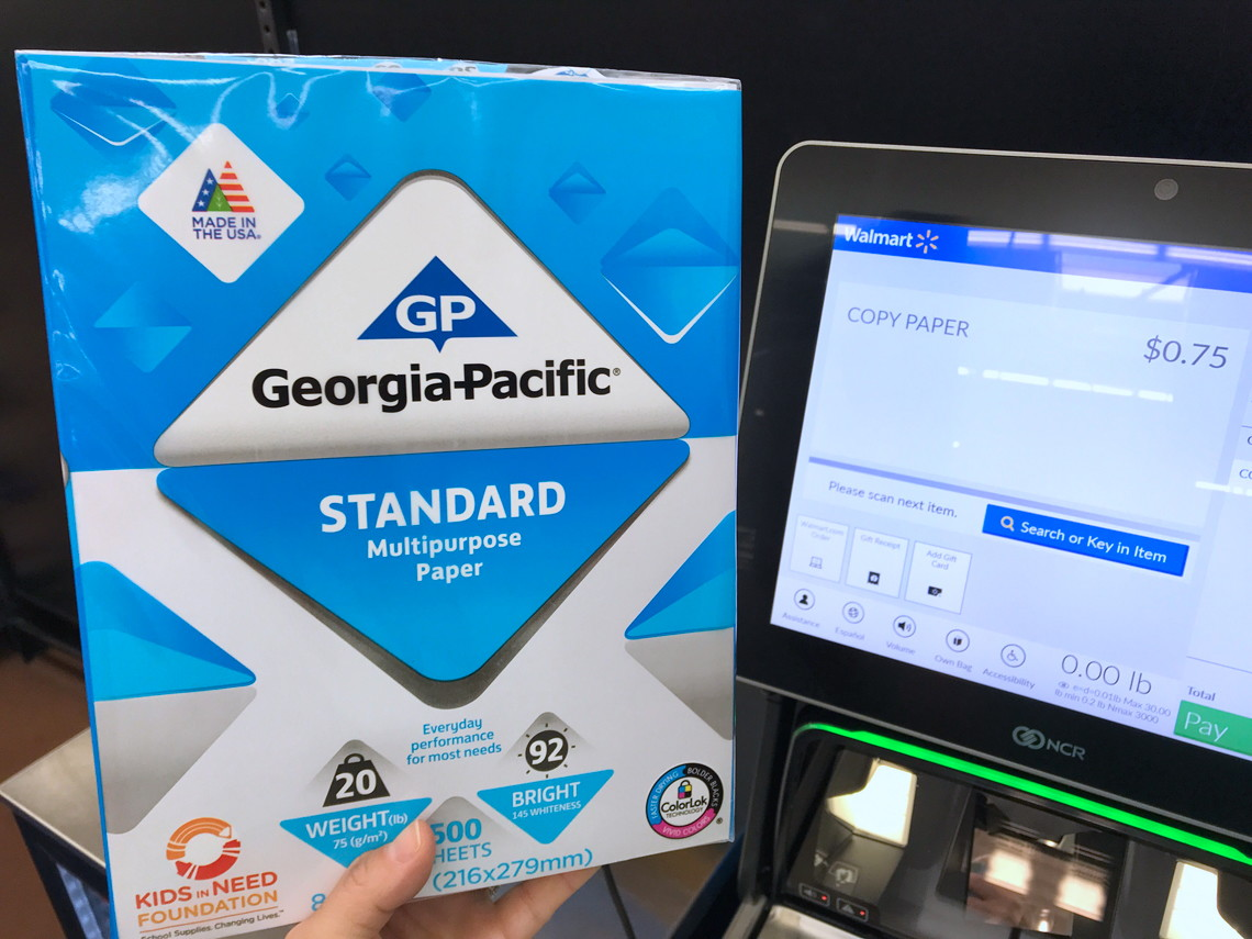 Georgia-Pacific Printer Paper, Possibly $0 75 at Walmart