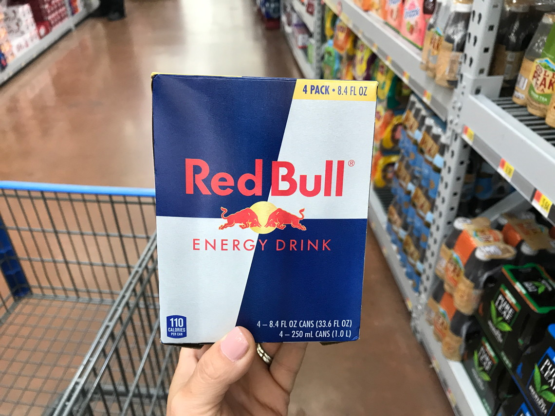 photograph about Red Bull Printable Coupons named Pink Bull Electricity Consume 4-Pack, $4.99 at Walmart! - The Krazy