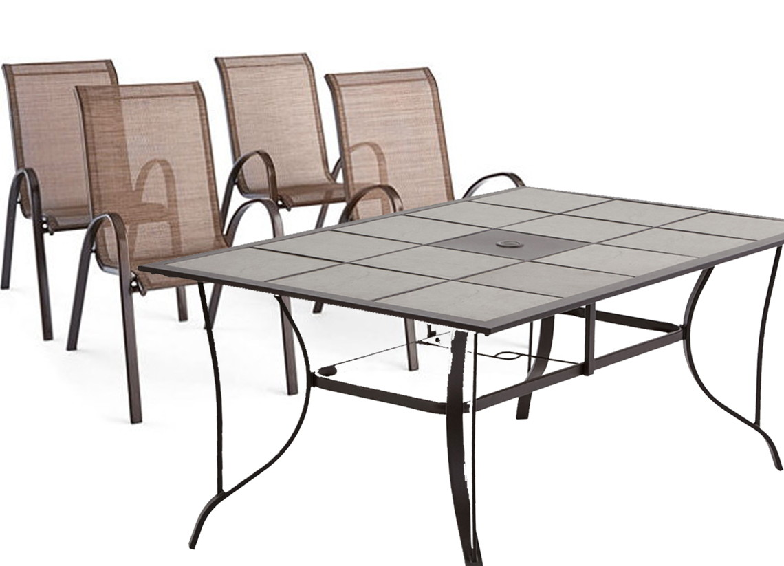 Patio Dining Table + 4 Chairs, $219 at JCPenney - Reg. $595 ...