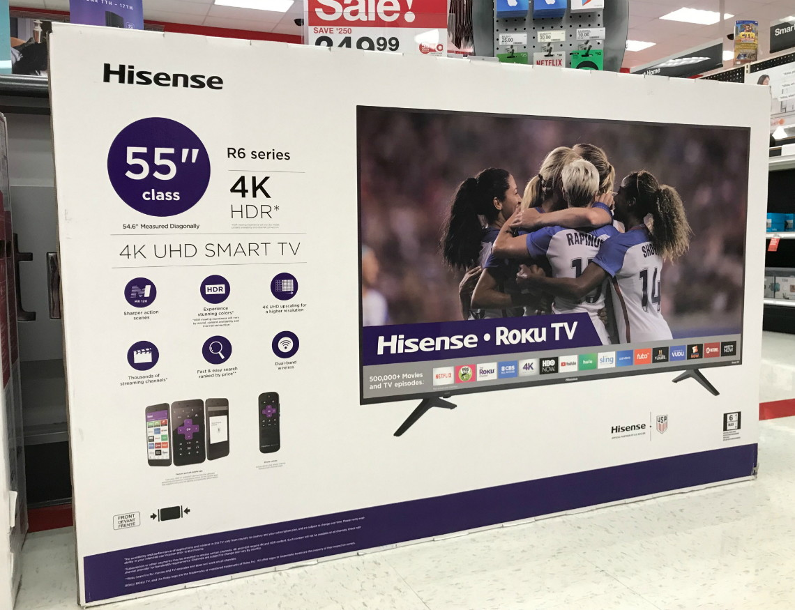 Hisense 55″ 4K UHD Smart TV, Only $237 49 at Target! - The Krazy