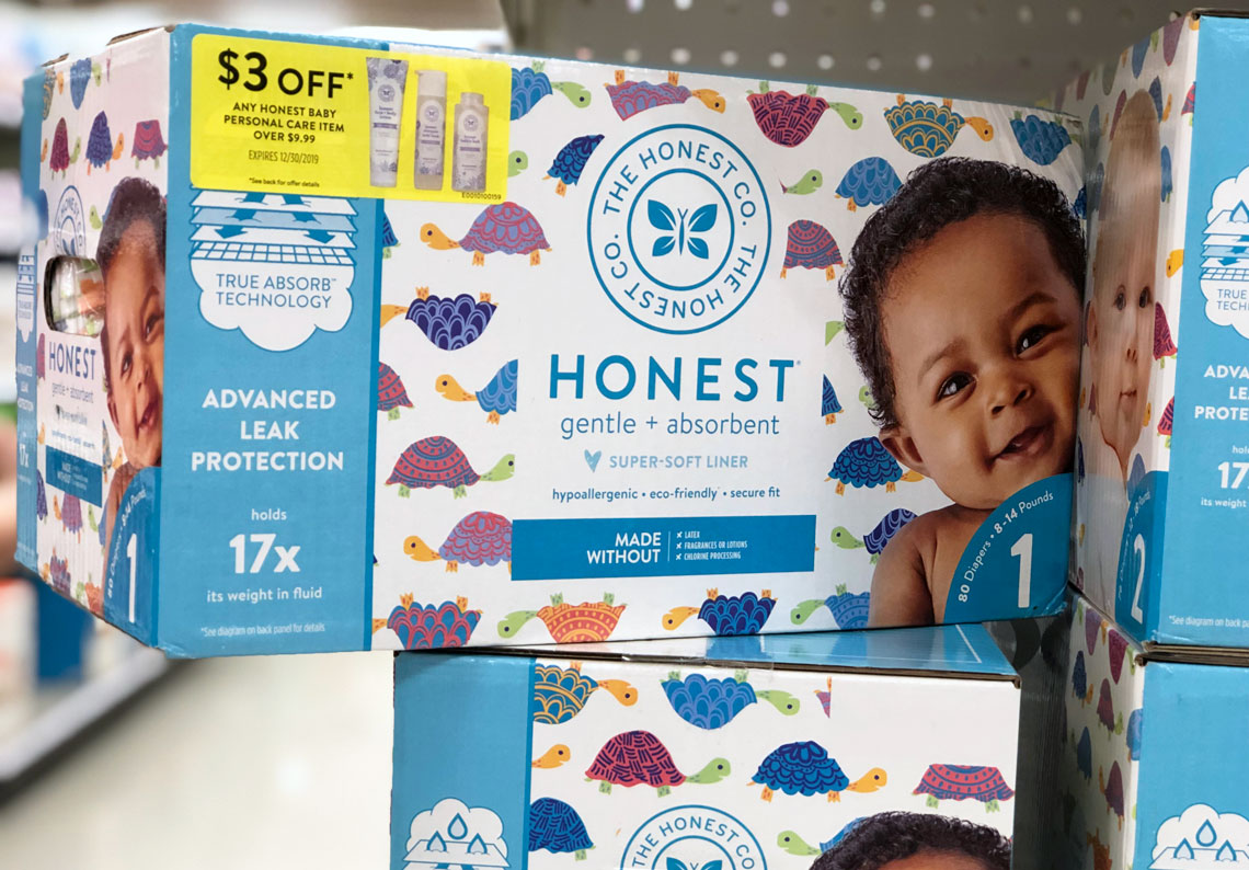photograph regarding Honest Company Printable Coupon known as Unusual Package! Trustworthy Business Diapers, Simply $16.99 at Focus