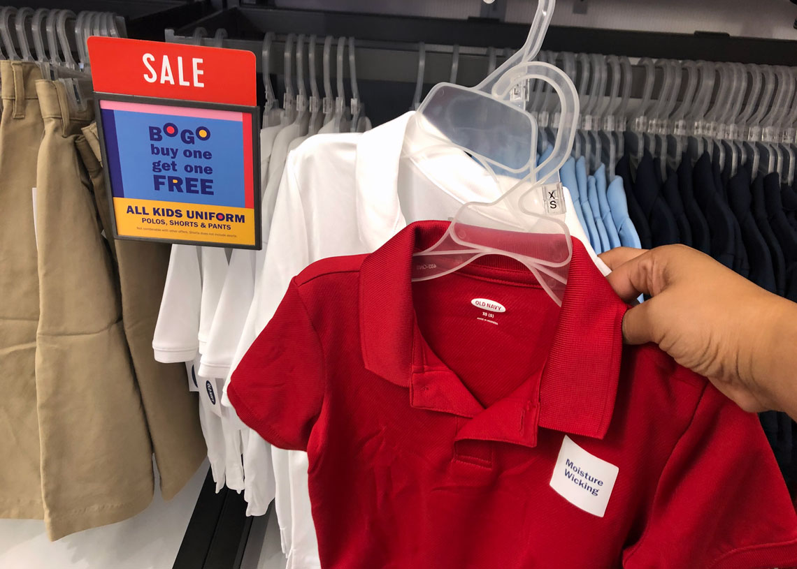 5e00d9051f Shop Now for Kids' Uniforms at Old Navy – BOGO! - The Krazy Coupon Lady
