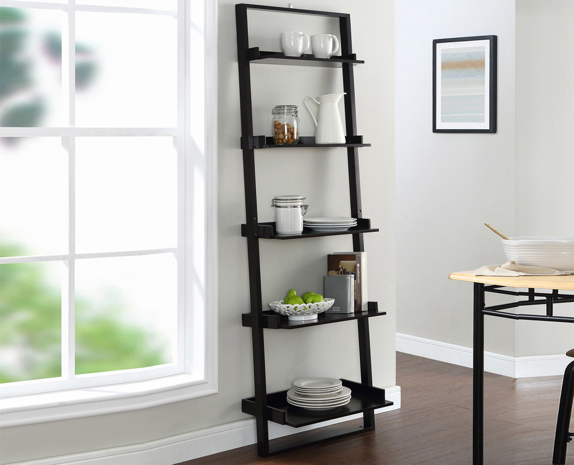 Mainstays 5-Shelf Ladder Bookcase, Only $34 at Walmart