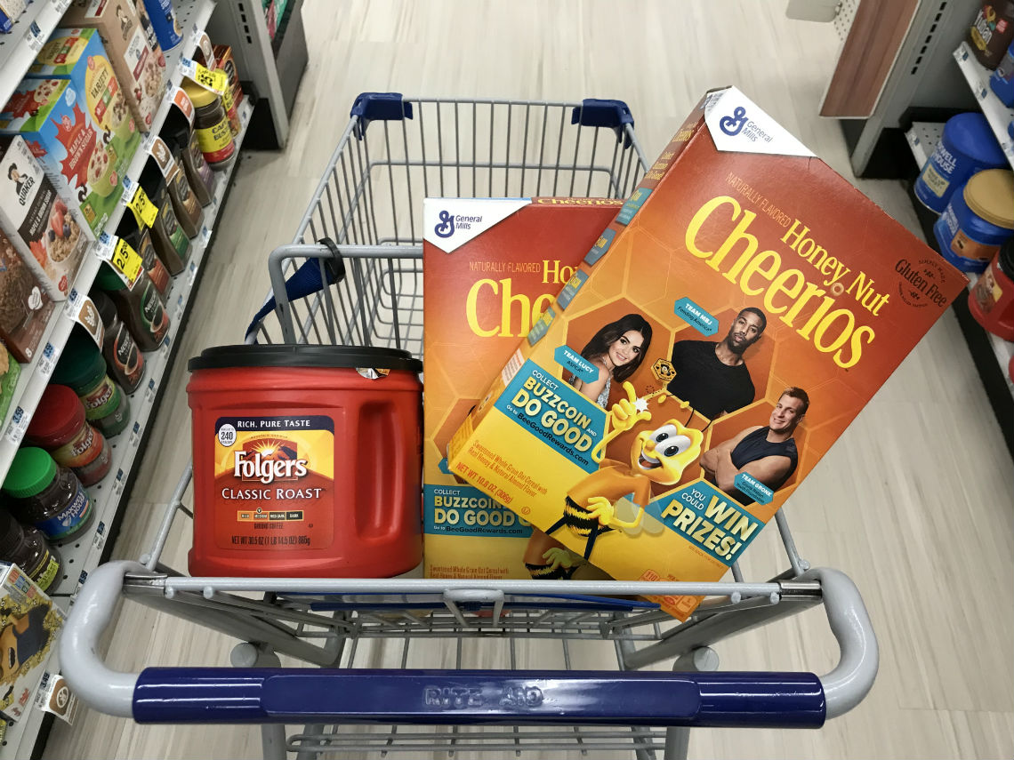 General Mills Cereal & Folgers, as Low as $1 50 at Rite Aid